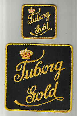 Pair of Tuborg Gold Beer Patches Large & Small..By Tuborg Of Baltimore, MD