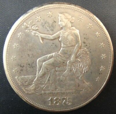 1875-S $1 Trade Dollar US MInt Silver Coin