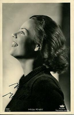 Hilde Krahl Autograph Actress In The Fairy Dolly & Derrick Signed Photo