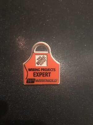 Home Depot Homer Wire Mold Apron Pin Orange Life Tools Retail Collectible