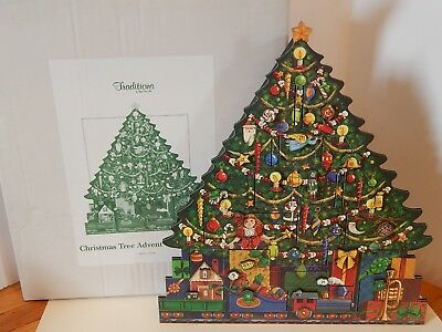 Byer's Choice Traditions Wood Christmas Tree Advent Calendar with Box