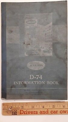 1925-26 MARMON - Original Owner's Manual/Service Info - Good Condition (US)