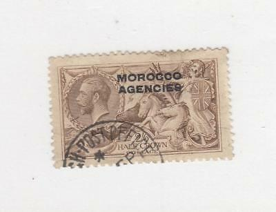 GB MOROCCO AGENCIES # 217 KGV 5sh GEORGE AND THE DRAGON CAT VALUE $58