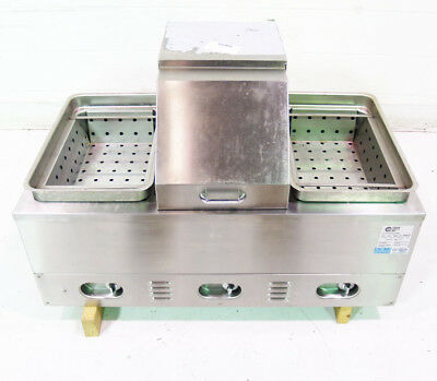 Used Crown Verity, Inc. CV-3WHS Stainless Steel 3 Comp Electric Hot Dog Steamer