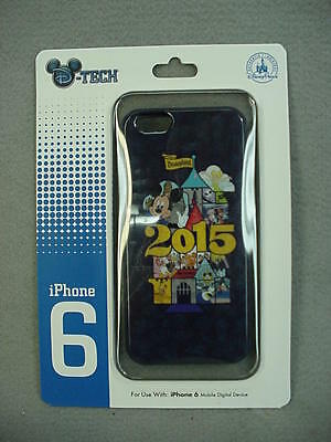 Disney Parks 2015 Mickey Mouse Disneyland Blue Cell Phone Case for iPhone 6 NEW