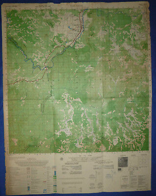 6632 ii - DAI NINH - US Special Forces - Rare 1969 MAP - Vietnam War, Highway 20