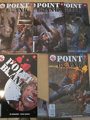 POINT BLANK : COMPLETE 5 issue DC/ WS 2002 series by ED BRUBAKER & COLIN WILSON