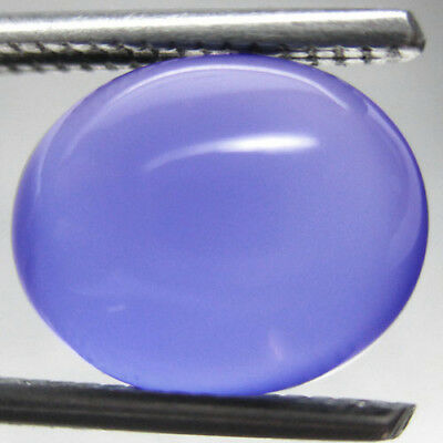 Nice 2.86 Ct. Oval Cabochon Blue Chalcedony Natural L6911