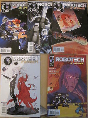 ROBOTECH : INVASION. COMPLETE 5 issue DC/ WS 2004 series by YUNE & FAERBER
