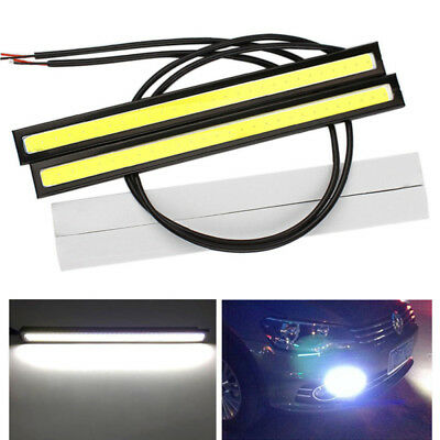 2x 17cm Waterproof Cob Led Strip Daytime Running Drl Fog Driving White Lights N3