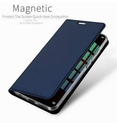 DD Leather Flip Wallet Magnetic Stand Slim Full Cover Case For Huawei Honor Play