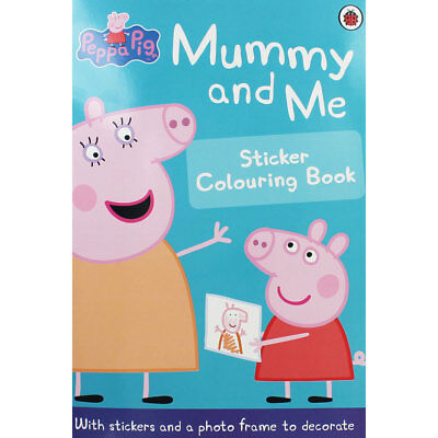 Peppa Pig - Mummy and Me Sticker Colouring Book, Children's Books, Brand New
