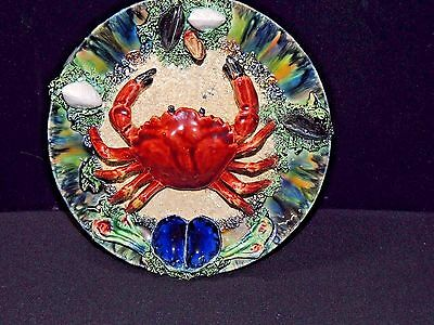 Antique 19th Century Majolica Palissy Ware Cancer (Crab) Wall Plate [AUTHENTIC]