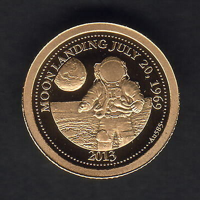 Samoa. 2013 Gold 1 Dollar..  Moon Landing..  0.5gms  .585 gold.. Proof