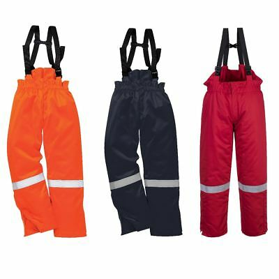 Portwest Flame Resistant Winter Bib & Brace Trousers Dungarees Pants FR58