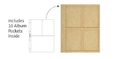 Kaisercraft - Beyond The Page - BTP - 4 Window Display Album with 10 Pockets