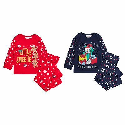 Baby Boys Girls Christmas Pyjamas Cute Novelty Xmas Pjs Babies Festive Outfit
