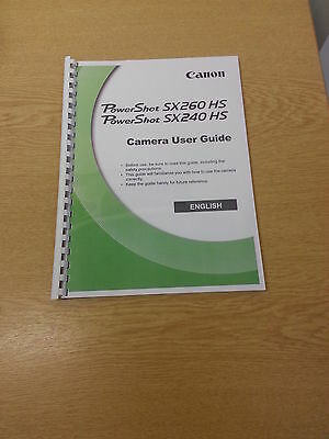 Canon Powershot Sx240Hs User Manual Guide Instructions  Printed 248 Pages A4