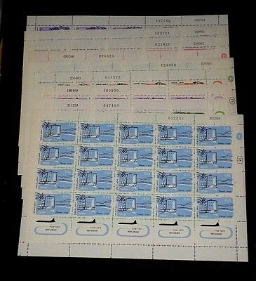 Israel, 1960-1961 Cities, Airmail, Full Sheets/20, Set Of 9, Mnh, Nice! Lqqk!