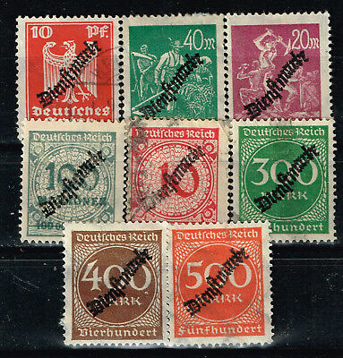 Germany Weimar Republic Postage Due Stamps 1923 MLH/U