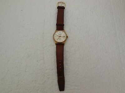 vintage mans swiss quartz date watch by london watch co 32768hz new battery