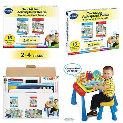 Vtech Touch & Learn Activity Desk Deluxe 2 In 1 Preschool Bundle Expansion Pack
