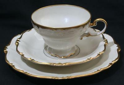 Superb Rosenthal Pompadour Gilt Cream Large Breakfast Teacup Trio Cup Saucer +