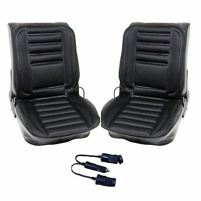 Streetwize Pair 12V Vehicle Hi Lo Control Heated Seat Cover Cushion + Adaptor