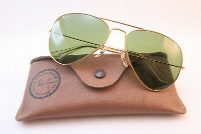 Vintage B&L Ray Ban aviator sunglasses aviator size 58-14 etched lens USA