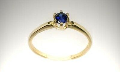 Antique 19thC Sapphire Gem of Ancient Rome Persia Sorcery Oracles Prophecy 14kt