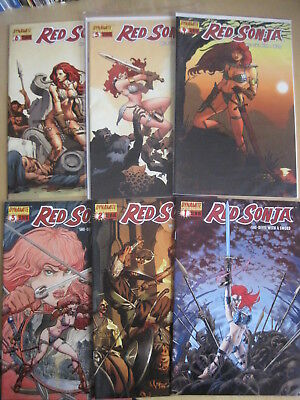 RED SONJA, SHE DEVIL WITH SWORD issues 1,2,3,4,5,6 of DYNAMITE 2005 series