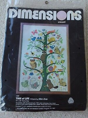 Dimensions Tree of Life crewel embroidery kit Ellen Silver