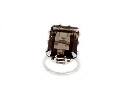 19thC Antique 21ct Scotland Cairngorm Smoky Quartz Ancient Rome Intaglio Gem