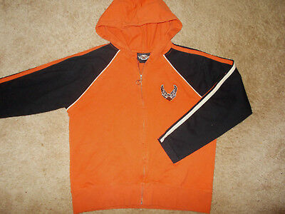 Harley-Davidson Full Zip Lightweight Hooded Jacket Womens Large Excellent Cond.