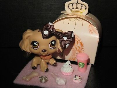 "Littlest Pet shop Chien Epagneul / Petshop Cocker Spaniel Dog #575 ""AUTHENTIC"""