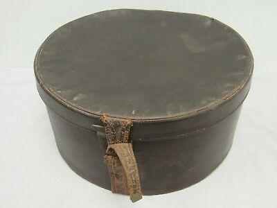 Vintage Brown Hat / Storage Box - WEL S7