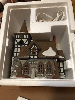 Dept. 56 Old Michael Church Dickens Village 55620 Lighted Heritage Collection