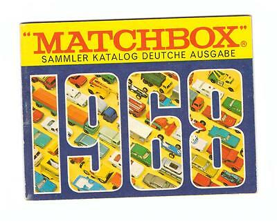 Katalog/catalogue  Matchbox 1968 Deutsche Ausgabe, Like New/neu/neuf !