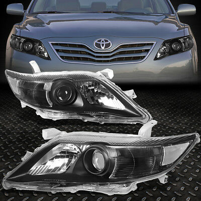 For 2010-2011 Toyota Camry Black Housing Clear Corner Projector Headlight/lamp