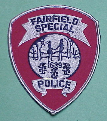Fairfield  Connecticut  1639  Ct  Special  Police Patch  Free Shipping!!