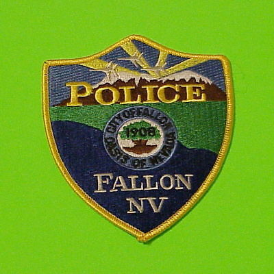 """Fallon  Nevada  Nv  """" Oasis Of Nevada """"   Police Patch   Free Shipping!!!"""
