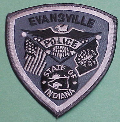Evansville  Indiana  In  Grey / Silver   Police Patch   Free Shipping!!!
