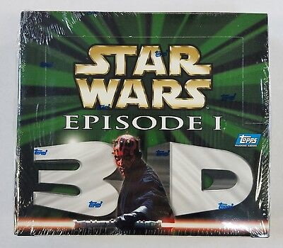 Topps Star Wars Episode I 3-D 3D Widevision Lenticular Factory Sealed Box (A)