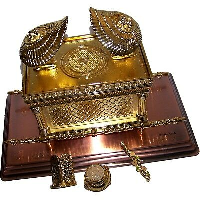 The Ark Of The Covenant Gold Plated with Ark Contents replica ( Aaron Rod,