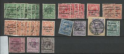 Ireland - Small Selection Of Used 1922 Overprints - Unchecked