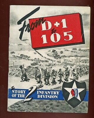 WWII WW2 2nd Division Unit History Guide Book Indian Head Div., D-Day +1 CLEAN