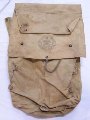 Vintage Boy Scout Back Pack / Messenger Bag Official National Council Canvas