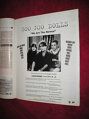 GOO GOO DOLLS - 1993 US Full-Page Ad 'We Are The Normal' Single (Album Network)