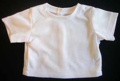 """Basic White T-Shirt Top fits 18"""" American Girl Doll Clothes BARGAIN!"""