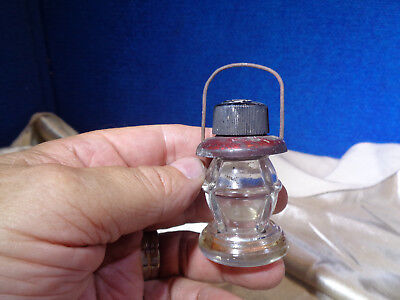 Antique Glass & Tin Lantern Candy Container **JERIS**